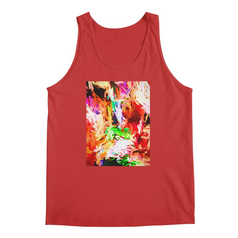 Orange Fire and the Triangle Abyss Men's Regular Tank by jackievano's Artist Shop
