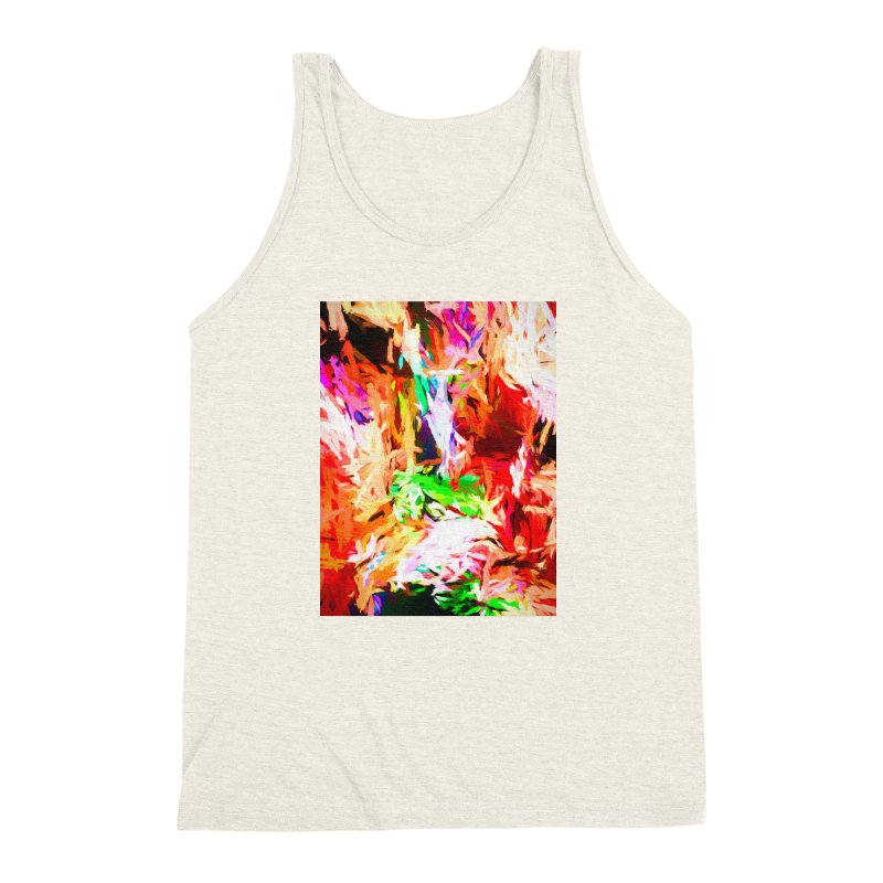Orange Fire and the Triangle Abyss Men's Triblend Tank by jackievano's Artist Shop