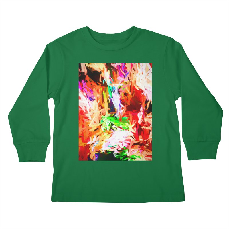 Orange Fire and the Triangle Abyss Kids Longsleeve T-Shirt by jackievano's Artist Shop