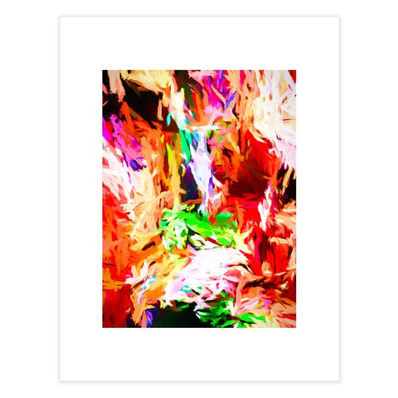 Orange Fire and the Triangle Abyss Home Fine Art Print by jackievano's Artist Shop