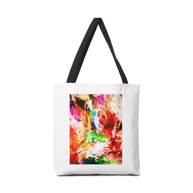 Orange Fire and the Triangle Abyss Accessories Tote Bag Bag by jackievano's Artist Shop