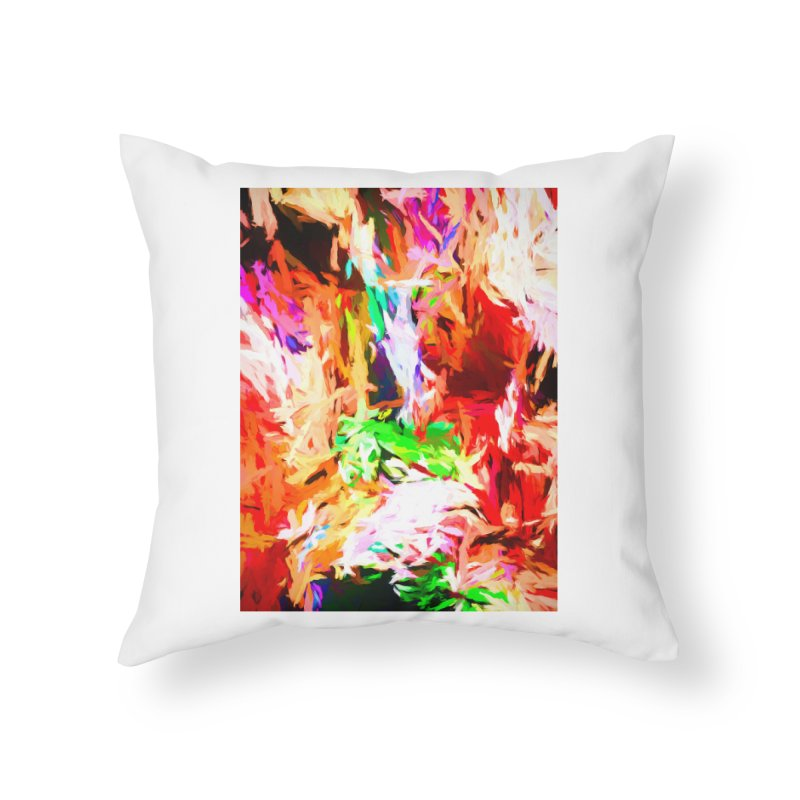 Orange Fire and the Triangle Abyss Home Throw Pillow by jackievano's Artist Shop