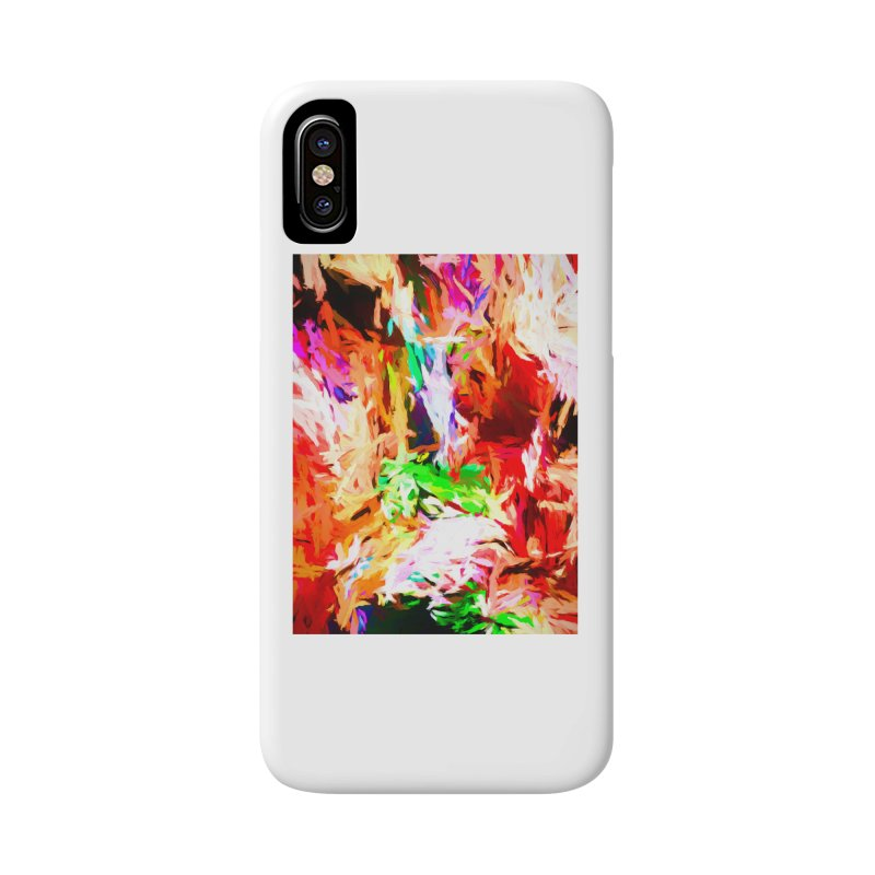 Orange Fire and the Triangle Abyss Accessories Phone Case by jackievano's Artist Shop
