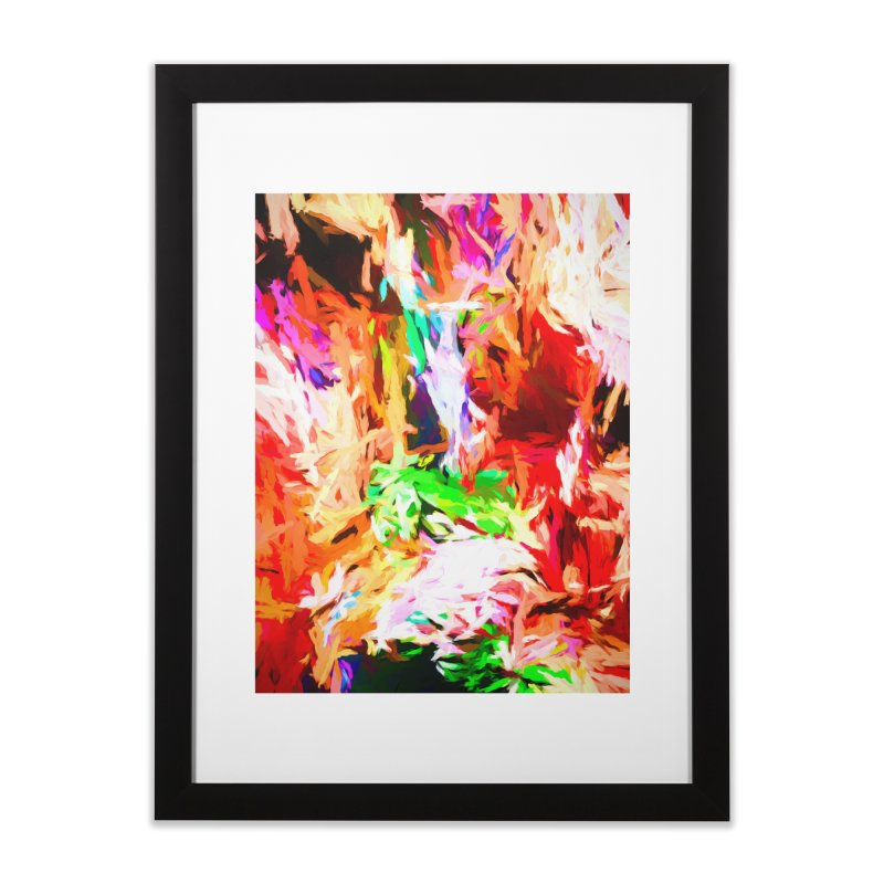 Orange Fire and the Triangle Abyss Home Framed Fine Art Print by jackievano's Artist Shop