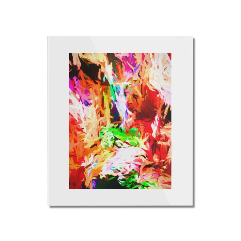 Orange Fire and the Triangle Abyss Home Mounted Acrylic Print by jackievano's Artist Shop