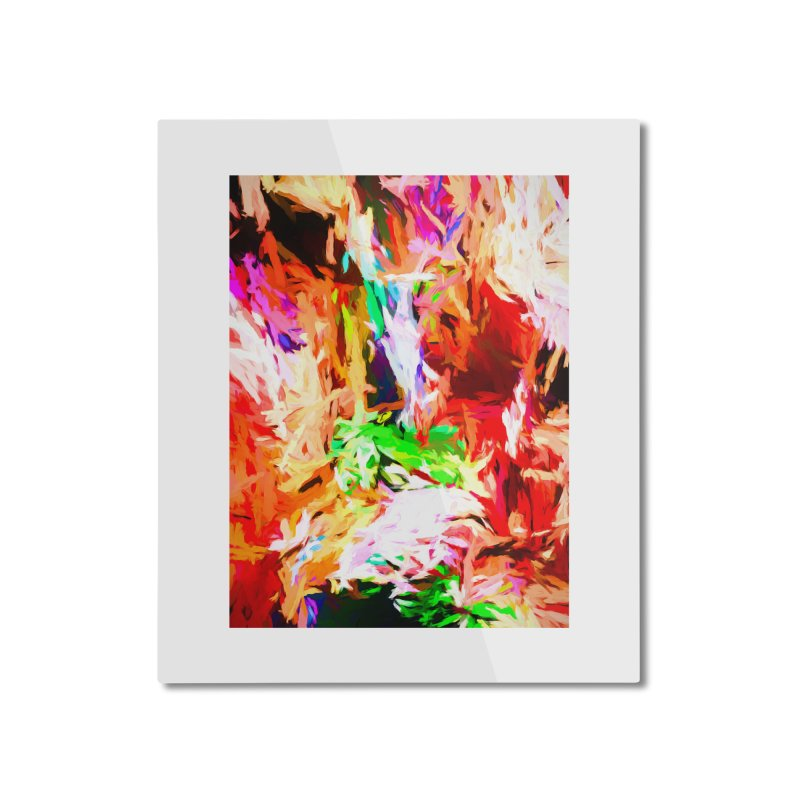 Orange Fire and the Triangle Abyss Home Mounted Aluminum Print by jackievano's Artist Shop