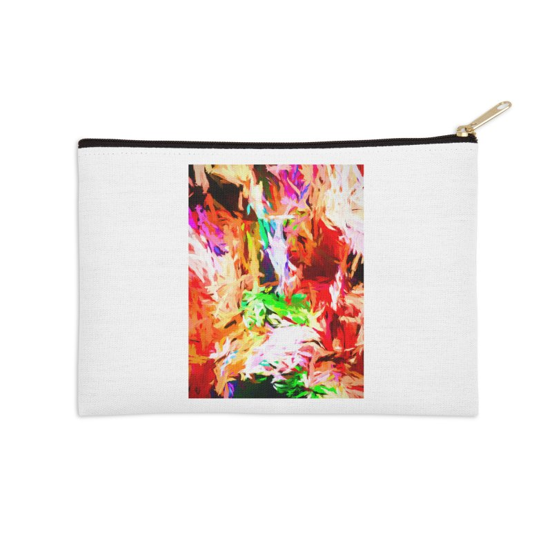 Orange Fire and the Triangle Abyss Accessories Zip Pouch by jackievano's Artist Shop
