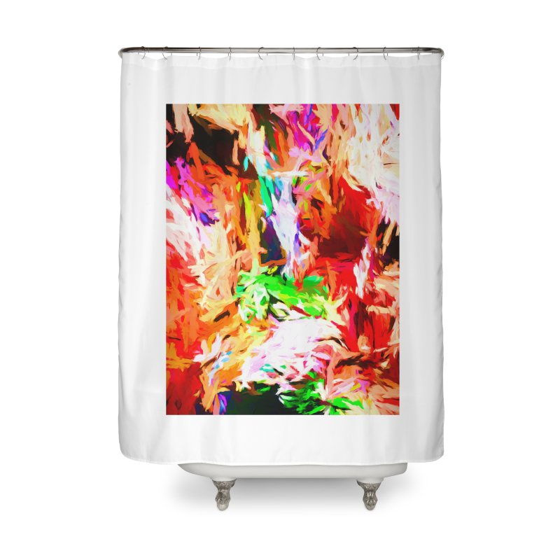 Orange Fire and the Triangle Abyss Home Shower Curtain by jackievano's Artist Shop