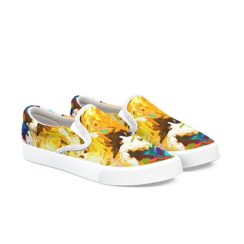 Honeycomb and Candy Floss Men's Slip-On Shoes by jackievano's Artist Shop