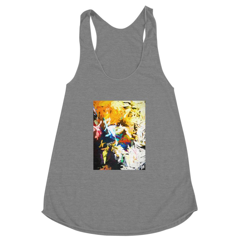 Honeycomb and Candy Floss Women's Racerback Triblend Tank by jackievano's Artist Shop