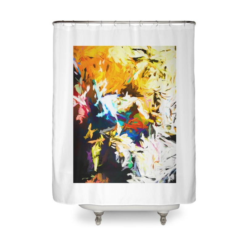 Honeycomb and Candy Floss Home Shower Curtain by jackievano's Artist Shop