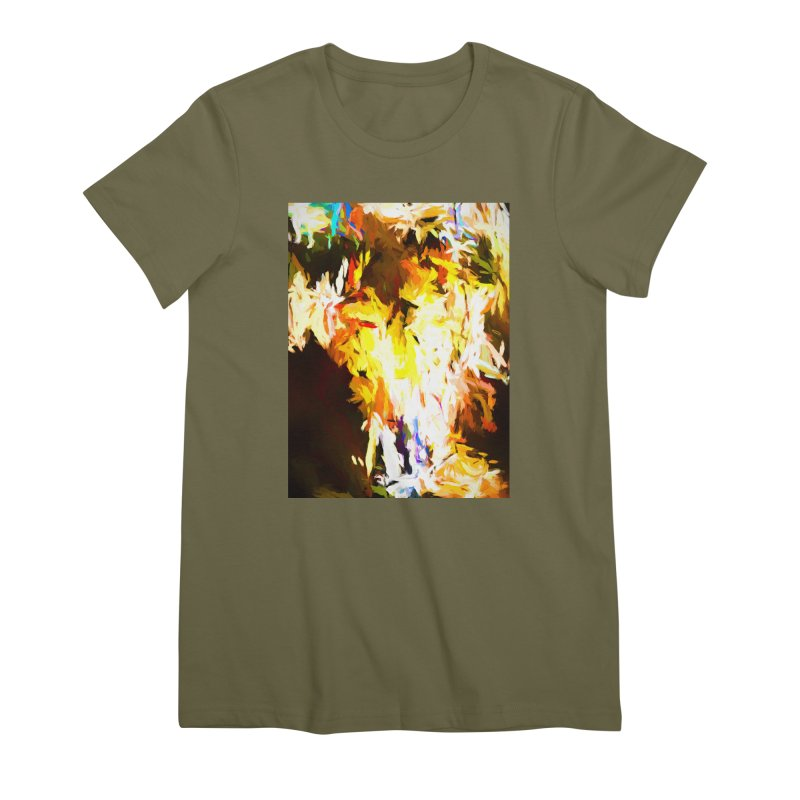 Cat with the Red Lipstick Women's Premium T-Shirt by jackievano's Artist Shop