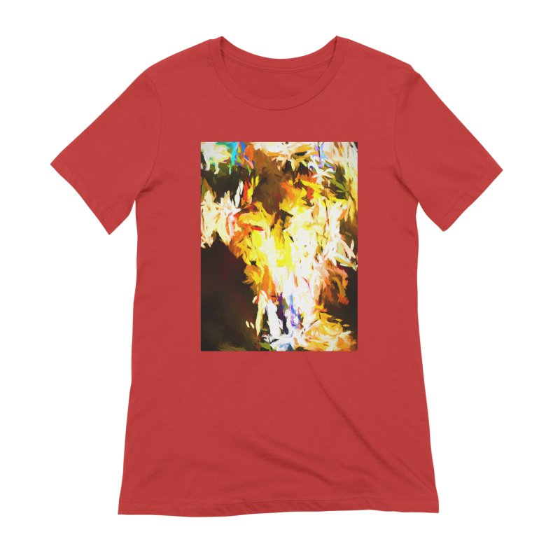 Cat with the Red Lipstick Women's Extra Soft T-Shirt by jackievano's Artist Shop