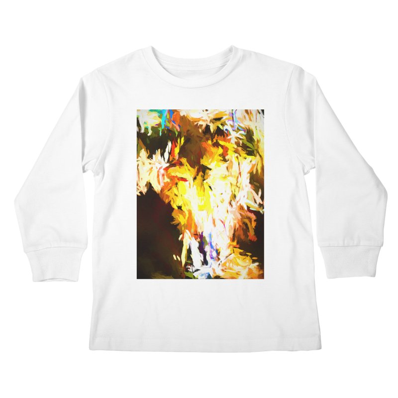 Cat with the Red Lipstick Kids Longsleeve T-Shirt by jackievano's Artist Shop