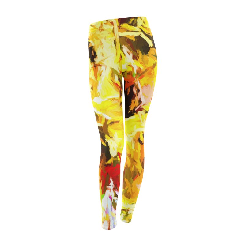 Yellow Fire and the Triangle Abyss Women's Leggings Bottoms by jackievano's Artist Shop