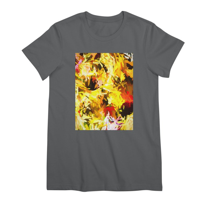 Yellow Fire and the Triangle Abyss Women's Premium T-Shirt by jackievano's Artist Shop
