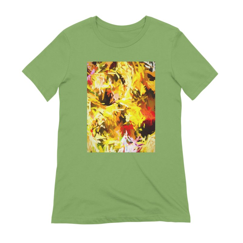 Yellow Fire and the Triangle Abyss Women's Extra Soft T-Shirt by jackievano's Artist Shop