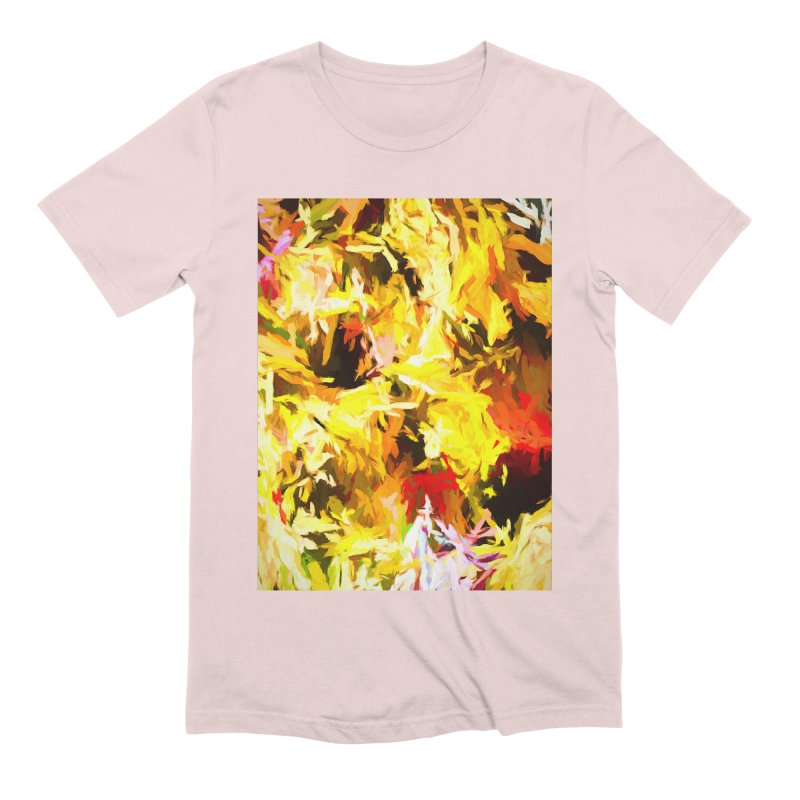 Yellow Fire and the Triangle Abyss Men's Extra Soft T-Shirt by jackievano's Artist Shop
