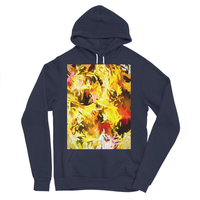 Yellow Fire and the Triangle Abyss Men's Sponge Fleece Pullover Hoody by jackievano's Artist Shop