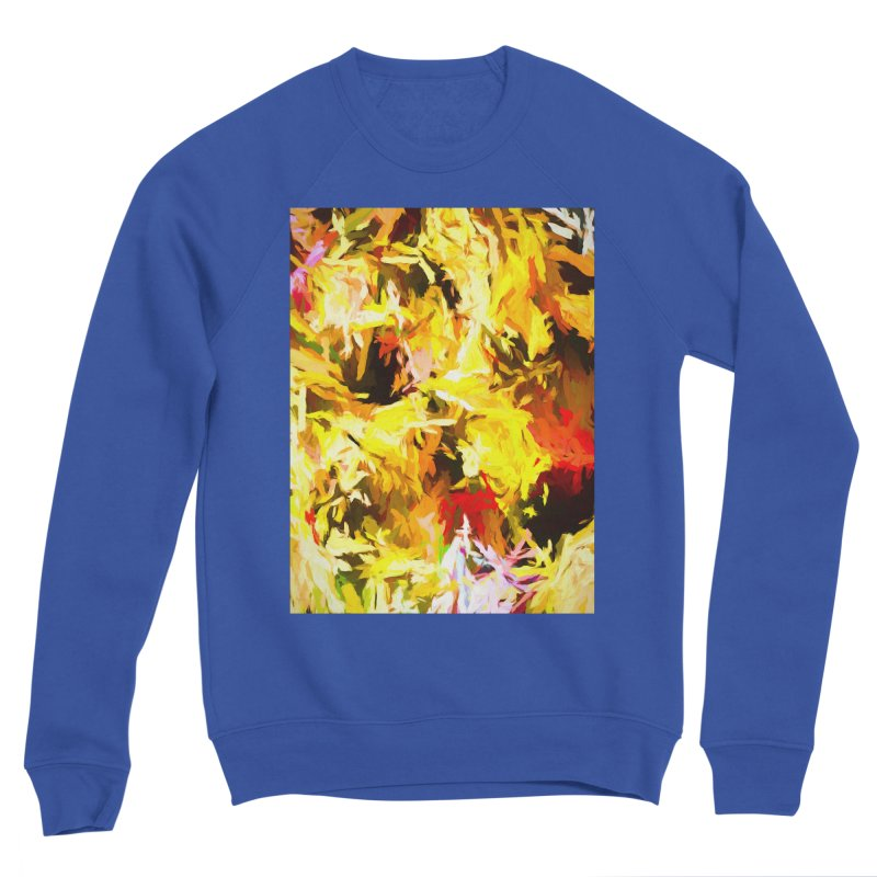 Yellow Fire and the Triangle Abyss Men's Sponge Fleece Sweatshirt by jackievano's Artist Shop