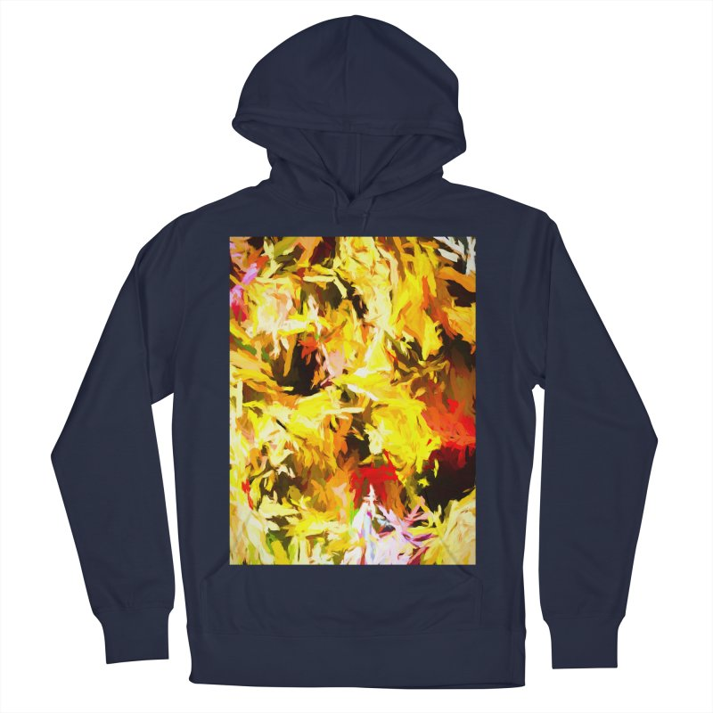 Yellow Fire and the Triangle Abyss Men's French Terry Pullover Hoody by jackievano's Artist Shop