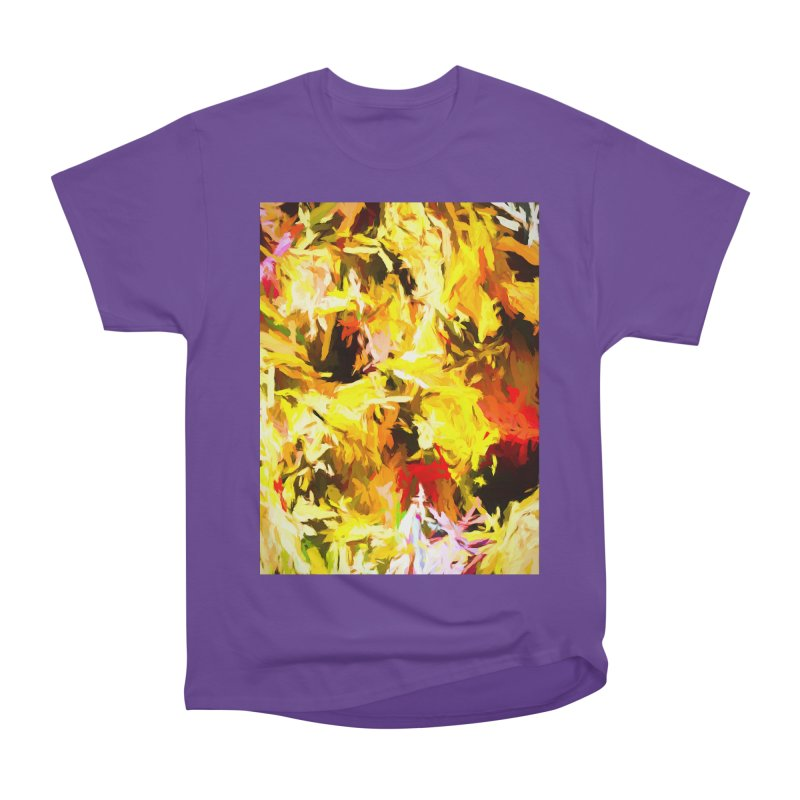 Yellow Fire and the Triangle Abyss Men's Heavyweight T-Shirt by jackievano's Artist Shop