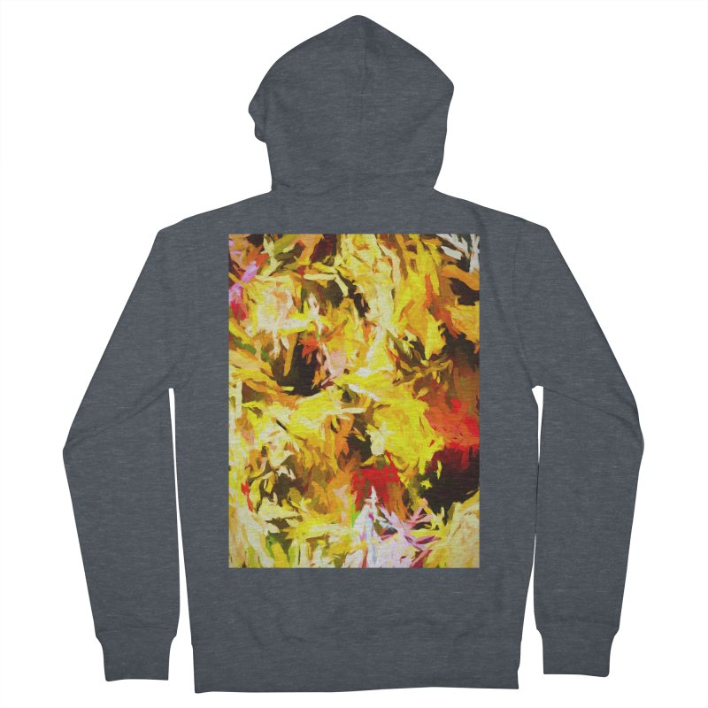 Yellow Fire and the Triangle Abyss Women's French Terry Zip-Up Hoody by jackievano's Artist Shop