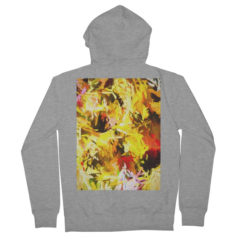 Yellow Fire and the Triangle Abyss Men's French Terry Zip-Up Hoody by jackievano's Artist Shop