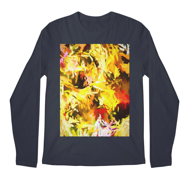 Yellow Fire and the Triangle Abyss Men's Regular Longsleeve T-Shirt by jackievano's Artist Shop