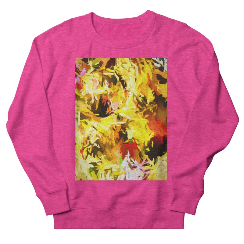 Yellow Fire and the Triangle Abyss Women's French Terry Sweatshirt by jackievano's Artist Shop