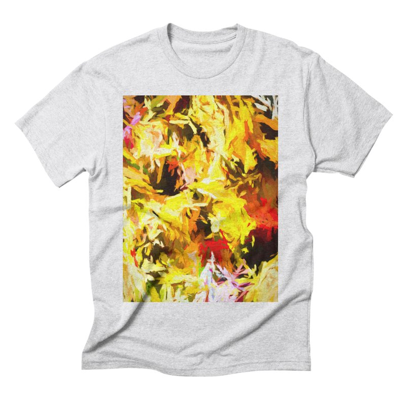 Yellow Fire and the Triangle Abyss Men's Triblend T-Shirt by jackievano's Artist Shop