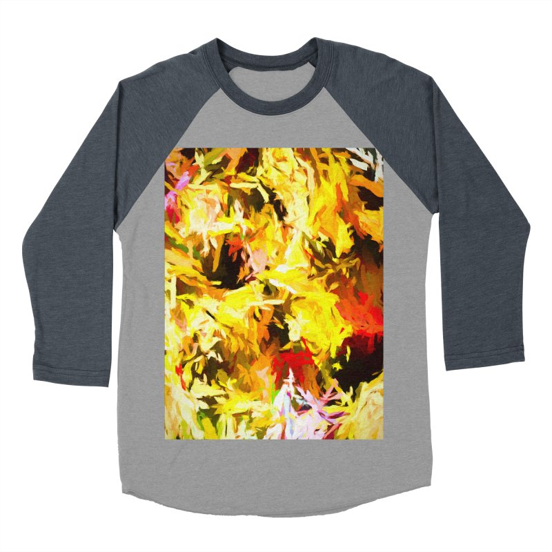Yellow Fire and the Triangle Abyss Women's Baseball Triblend Longsleeve T-Shirt by jackievano's Artist Shop