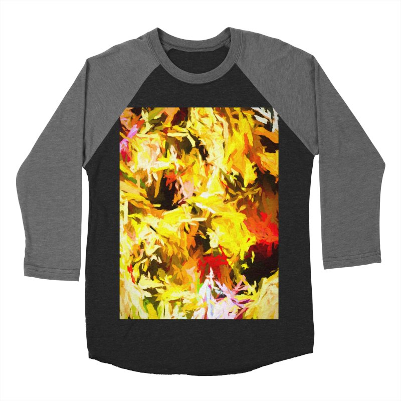 Yellow Fire and the Triangle Abyss Men's Baseball Triblend Longsleeve T-Shirt by jackievano's Artist Shop