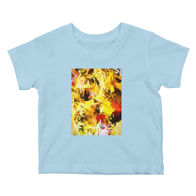 Yellow Fire and the Triangle Abyss Kids Baby T-Shirt by jackievano's Artist Shop