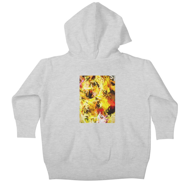 Yellow Fire and the Triangle Abyss Kids Baby Zip-Up Hoody by jackievano's Artist Shop