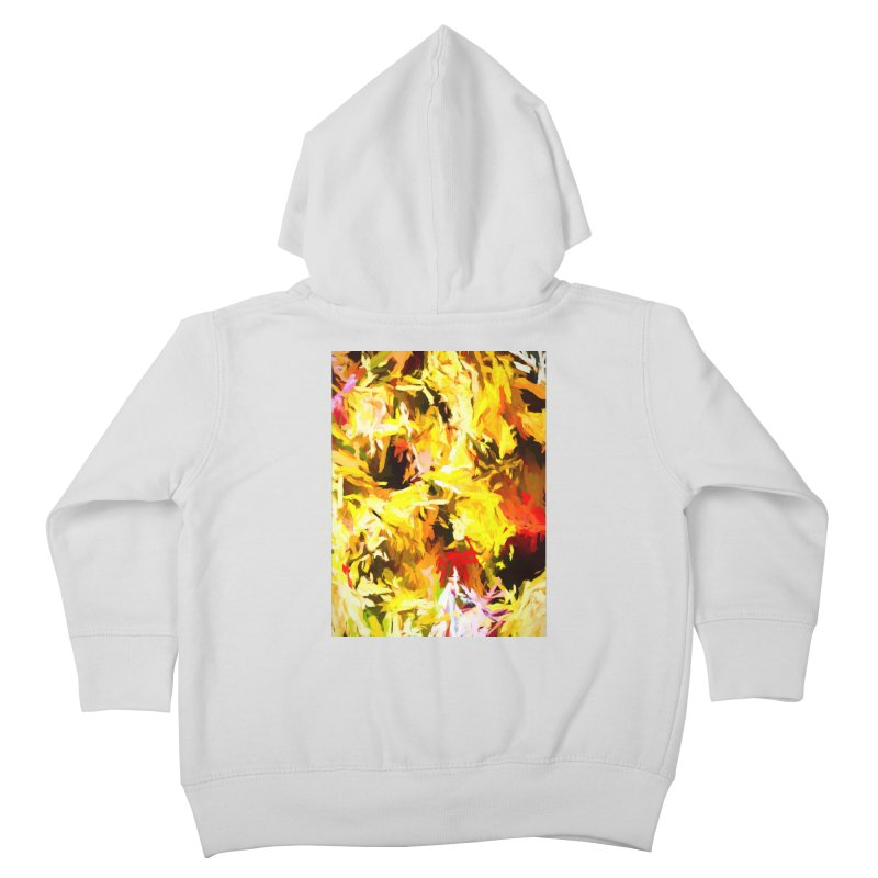 Yellow Fire and the Triangle Abyss Kids Toddler Zip-Up Hoody by jackievano's Artist Shop