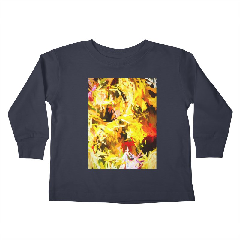 Yellow Fire and the Triangle Abyss Kids Toddler Longsleeve T-Shirt by jackievano's Artist Shop