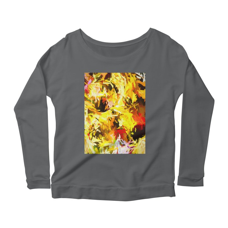 Yellow Fire and the Triangle Abyss Women's Scoop Neck Longsleeve T-Shirt by jackievano's Artist Shop