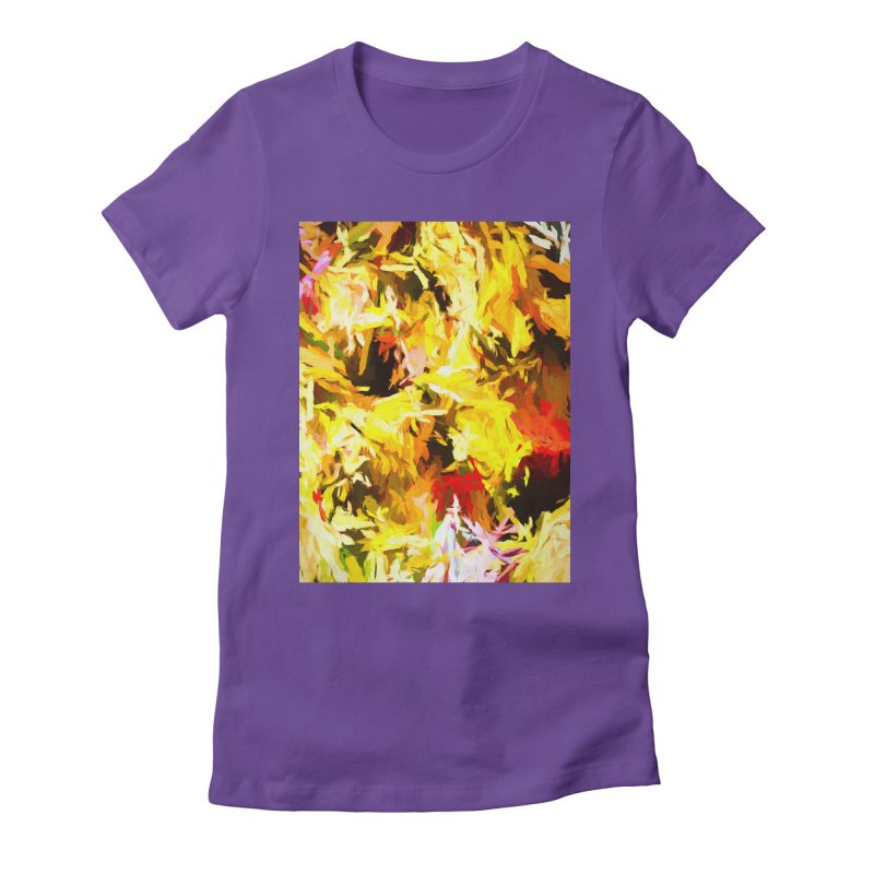 Yellow Fire and the Triangle Abyss Women's Fitted T-Shirt by jackievano's Artist Shop