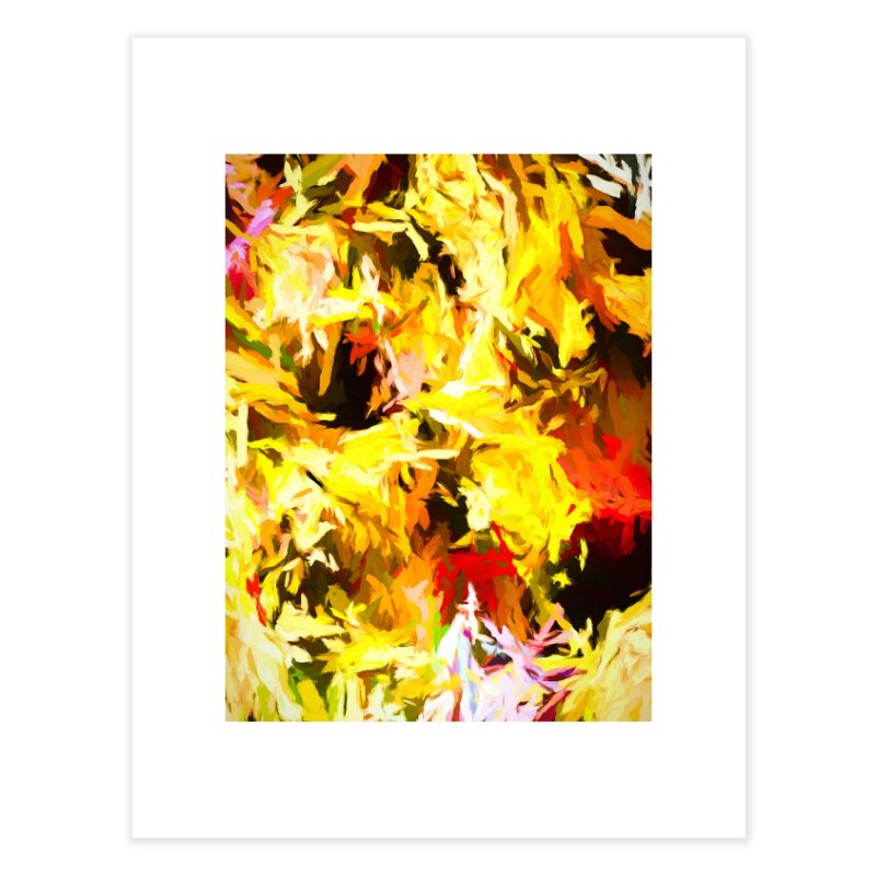 Yellow Fire and the Triangle Abyss Home Fine Art Print by jackievano's Artist Shop