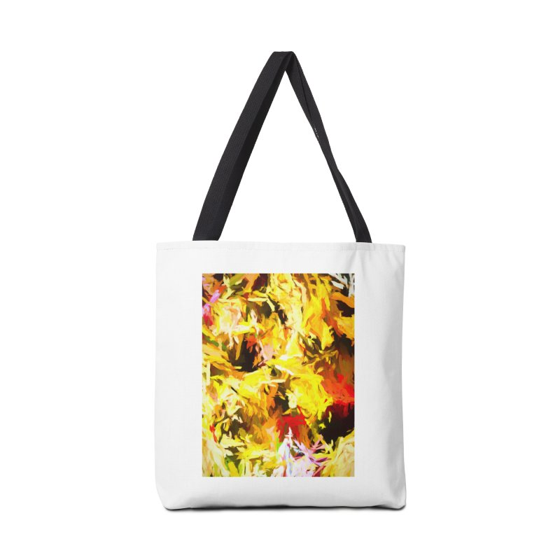 Yellow Fire and the Triangle Abyss Accessories Tote Bag Bag by jackievano's Artist Shop