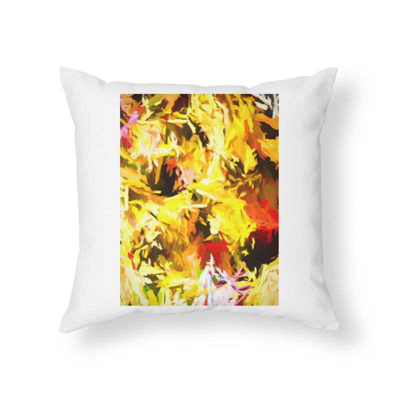 Yellow Fire and the Triangle Abyss Home Throw Pillow by jackievano's Artist Shop
