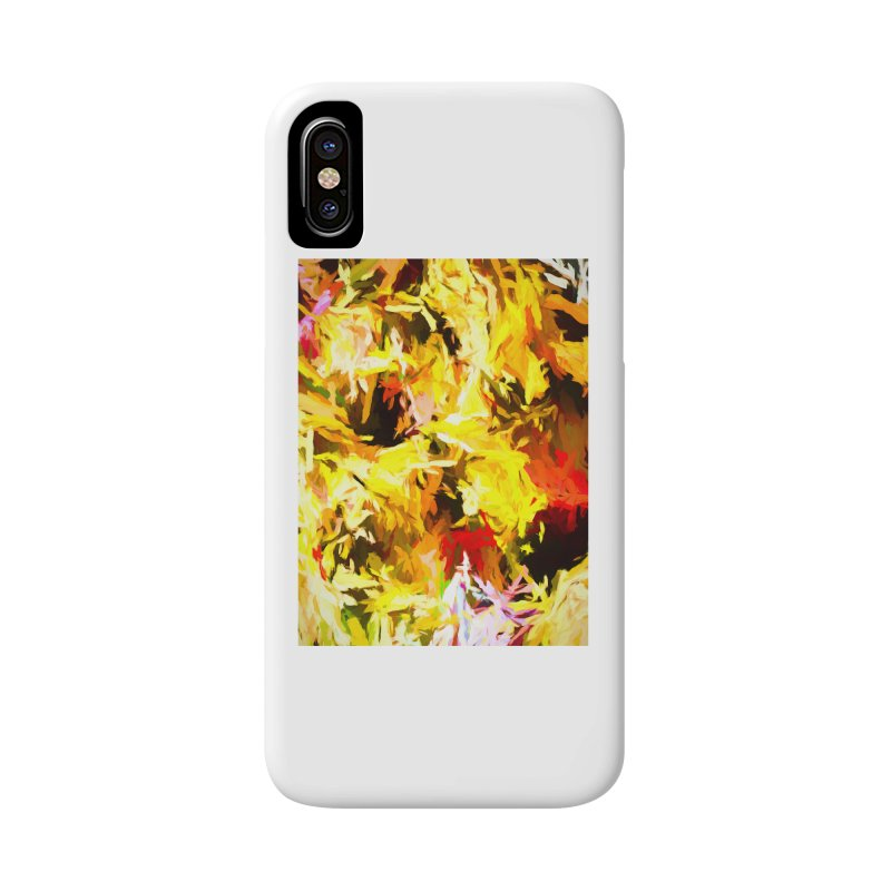 Yellow Fire and the Triangle Abyss Accessories Phone Case by jackievano's Artist Shop