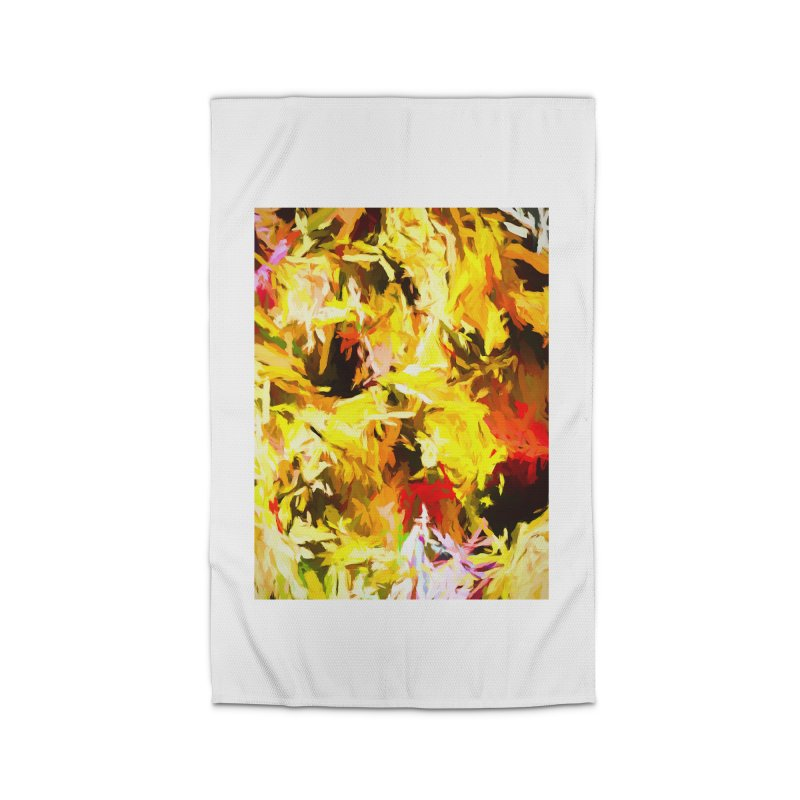 Yellow Fire and the Triangle Abyss Home Rug by jackievano's Artist Shop