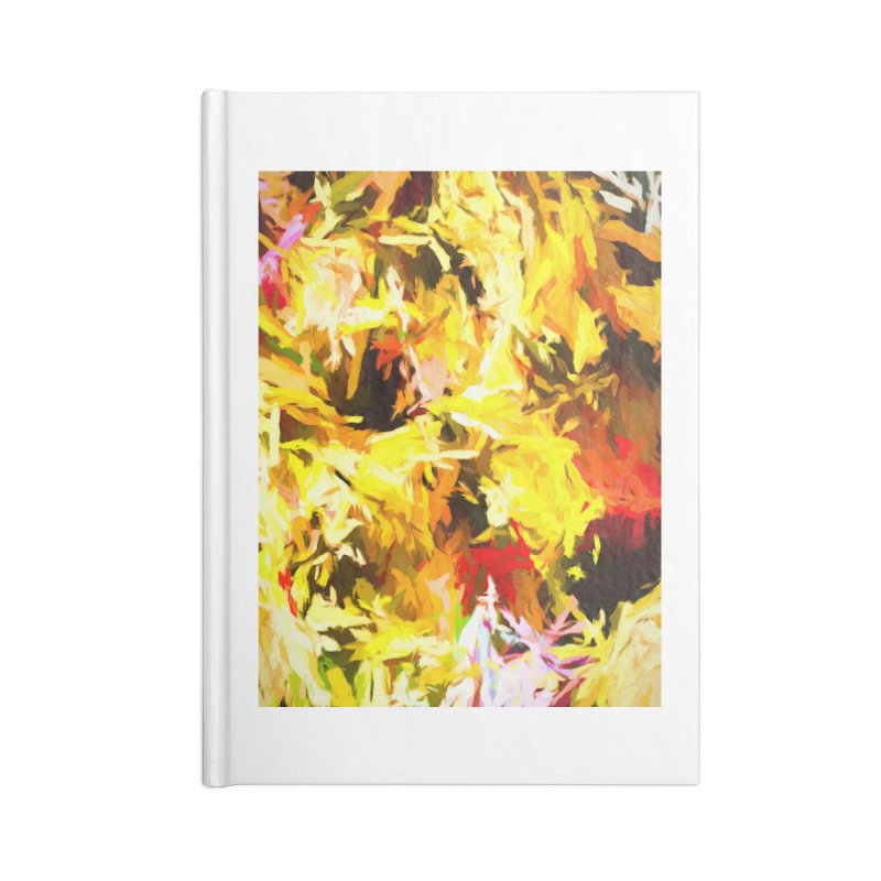 Yellow Fire and the Triangle Abyss Accessories Blank Journal Notebook by jackievano's Artist Shop