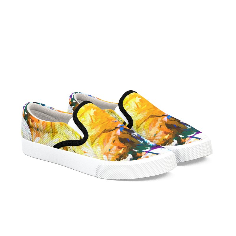 Gargoyle Cyclone Spin Men's Slip-On Shoes by jackievano's Artist Shop
