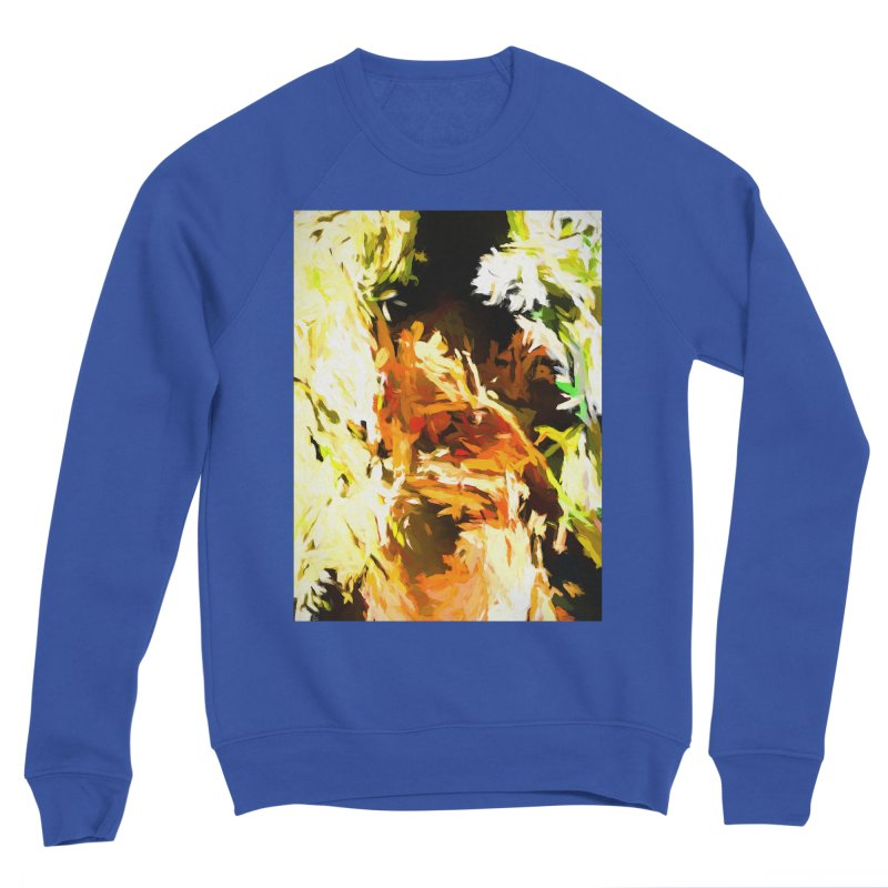 Self Portrait with the White Flower Men's Sponge Fleece Sweatshirt by jackievano's Artist Shop