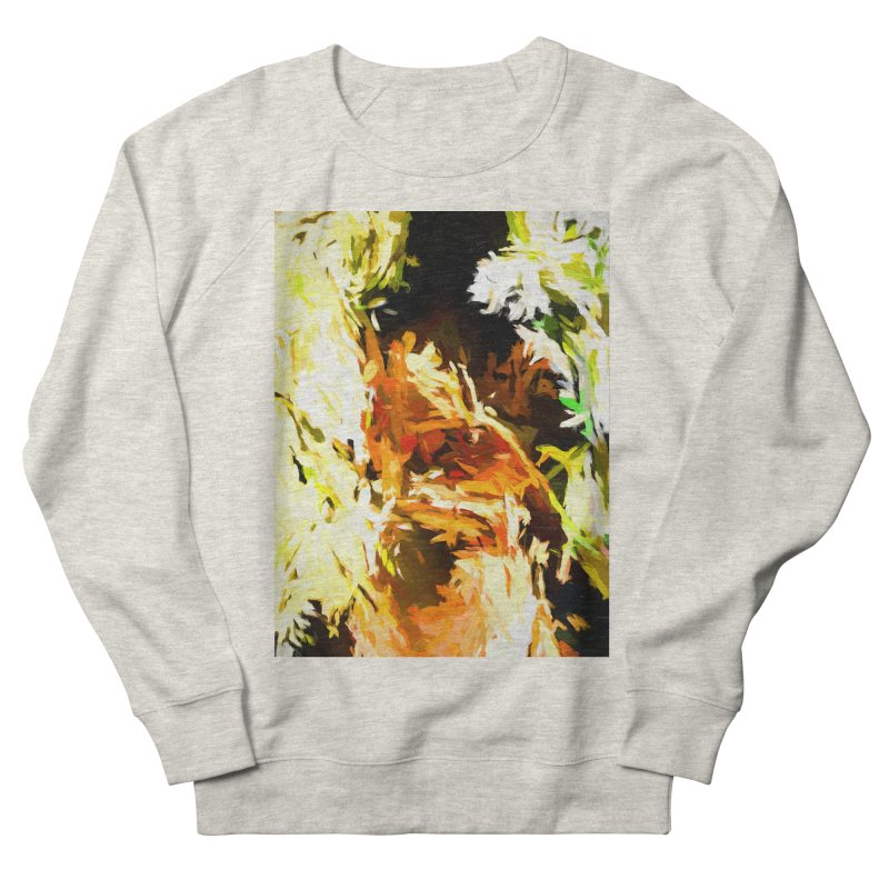 Self Portrait with the White Flower Women's French Terry Sweatshirt by jackievano's Artist Shop
