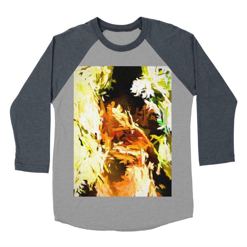 Self Portrait with the White Flower Women's Baseball Triblend Longsleeve T-Shirt by jackievano's Artist Shop