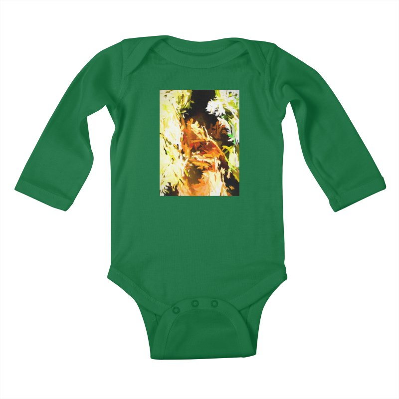 Self Portrait with the White Flower Kids Baby Longsleeve Bodysuit by jackievano's Artist Shop